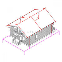Комплект молниезащиты частного дома MZ 15 Д для деревянного фасада, медь