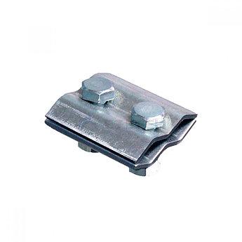 Зажим соединительный круглого проводника 8-10 мм параллельный, оцинк.