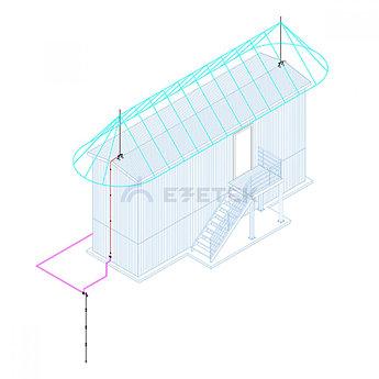 Комплект молниезащиты вагончика длиной до 12,5м – 2ВК