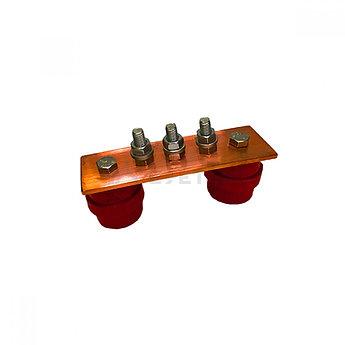 ГЗШ 3 подключения 150х40х4 мм, медь