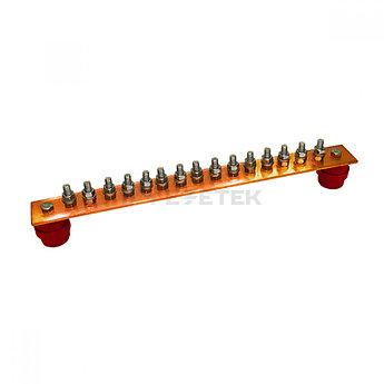 ГЗШ 15 подключений 440х40х4 мм, медь
