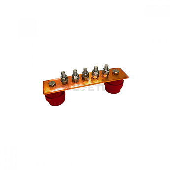 ГЗШ 5 подключений 190х40х4 мм, медь