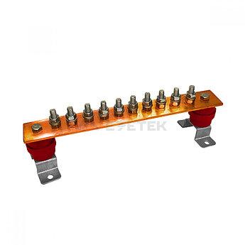 ГЗШ 10 подключений 300х40х4 мм на П-образных пластинах, медь