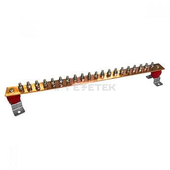 ГЗШ 20 подключений 600х40х4 мм на П-образных пластинах, медь