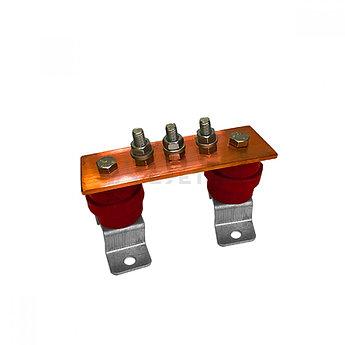 ГЗШ 3 подключения 150х40х4 мм на П-образных пластинах, медь