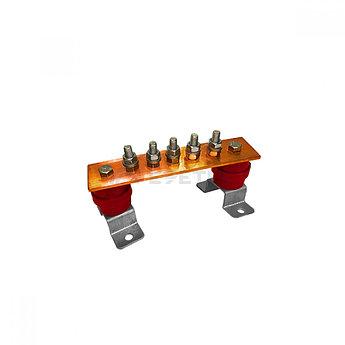 ГЗШ 5 подключений 190х40х4 мм на П-образных пластинах, медь