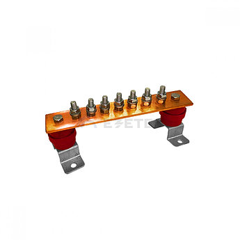 ГЗШ 7 подключений 270х40х4 мм на П-образных пластинах, медь