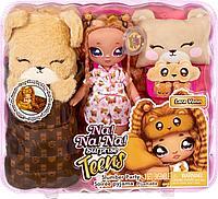 """Игровой набор с куклой Na! Na! Na! Surprise серии Teens"""" – Пижамная тедди-вечеринка Лары Вонн"""