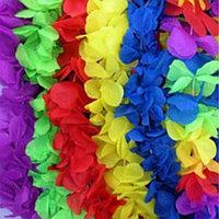 Бусы гавайские Леи из цветов (цвета в ассортименте, одинаковых нет)