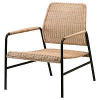 Кресло УЛЬРИКСБЕРГ, ротанг/антрацит ИКЕА, IKEA