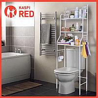Полка Органайзер Стеллаж для Ванной комнаты над Унитазом Белый (под стиральную машину/унитаз)