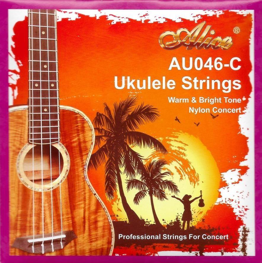 Комплект струн для концертного укулеле, Alice AU046-C