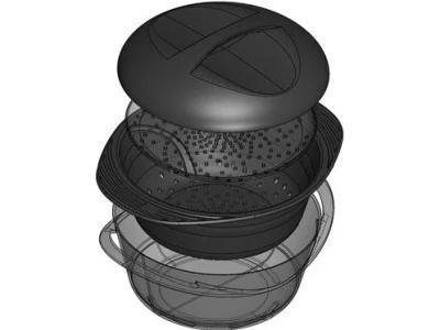 Пароварка Mastrad F70000 3.2 л черный