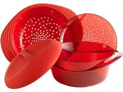 Пароварка Mastrad F70010 3.2 л красный