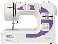 Швейная машина Janome XV-5 белый-фиолетовый