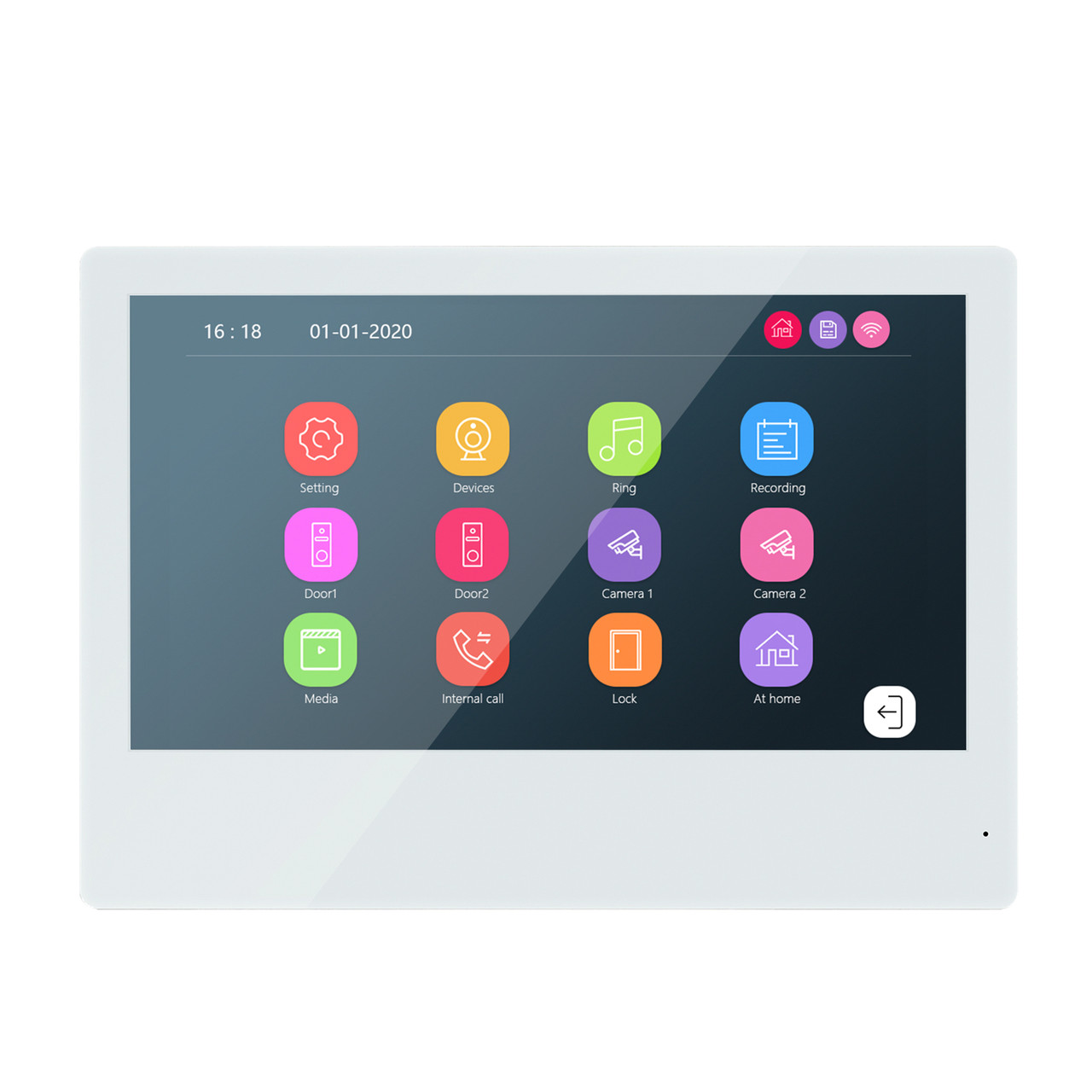 Комплект Видеодомофон сенсорный Wi-Fi 95111H-1080P + 94206-AHD1080P