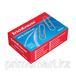 Скрепки металлические оцинкованные ErichKrause®, 28мм (коробка 100 скрепок)