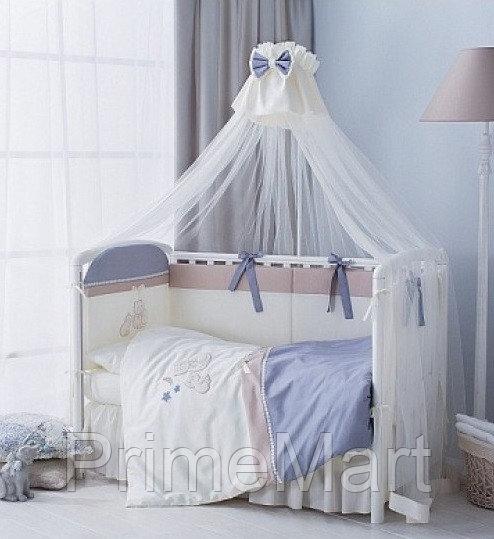 Комплект в кроватку Perina Котята Лазурь 4 предмета