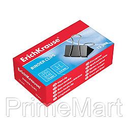 Зажимы для бумаг ErichKrause® 32мм (коробка 12 зажимов)