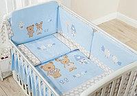 Постельное белье Perina Венеция Лапушки голубые 3 предмета