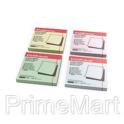 Бумага для заметок с клеевым краем ErichKrause®, 75х75 мм, 100 листов, в пленке 10 шт., желтый