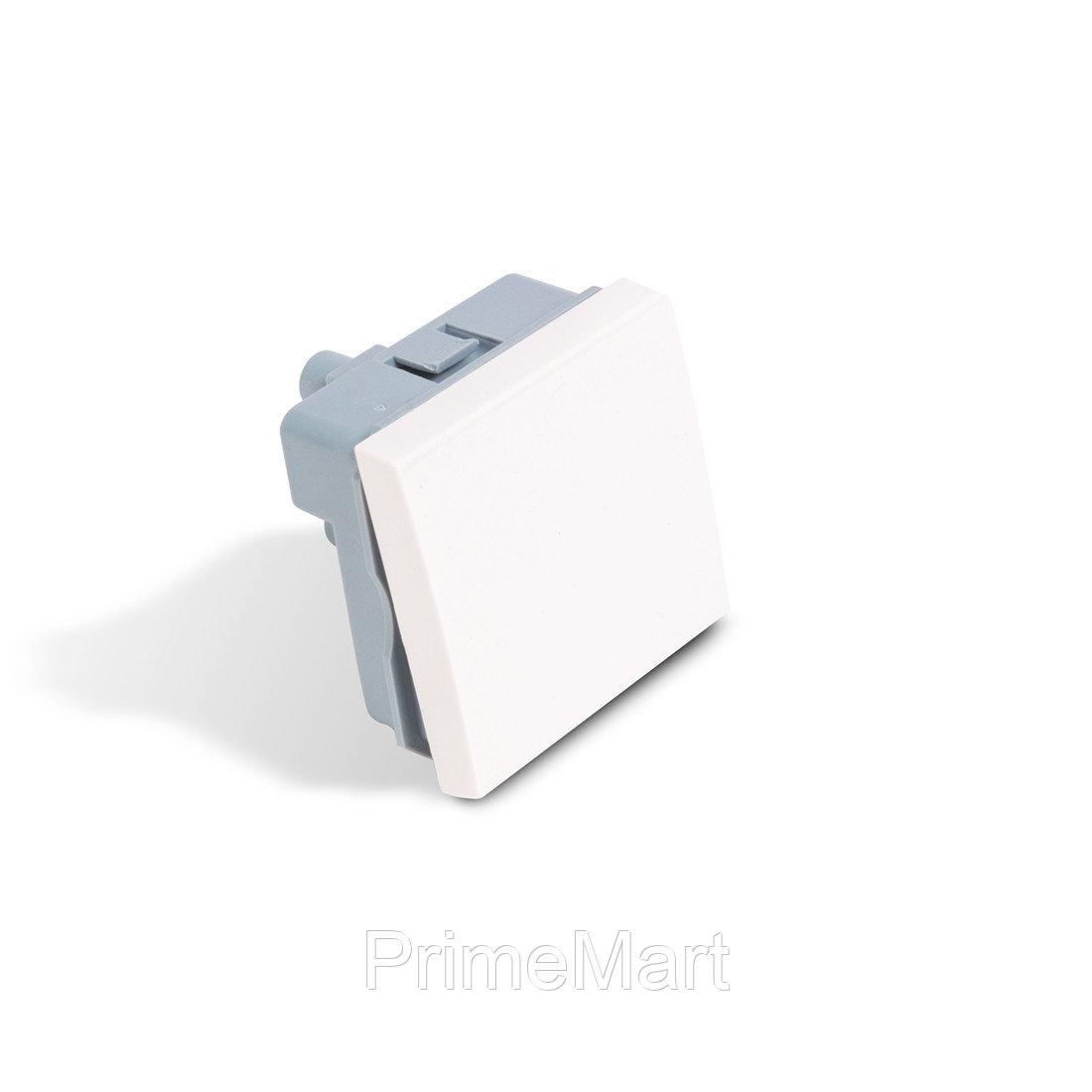 Выключатель одноклавишный Рувинил АДЛ 13-904 45х45 мм белый АДЛ 13-904