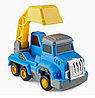 Игрушка дорожная техника с аксессуарами Happy Baby Magnetic Engineer Set Blue and Yellow 331870, фото 3