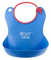 Нагрудник Roxy Kids мягкий с кармашком и застежкой RB-401-B Синий