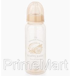 Бутылочка Happy Baby антиколиковая с силиконовыми сосками средн. поток 250 мл Beige
