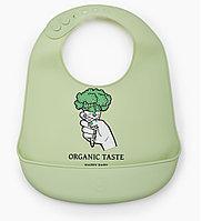 Нагрудник Happy Baby силиконовый Soft Silicone Bib Green