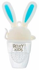 Ниблер Roxy Kids для прикорма Bunny Twist силиконовый Голубой