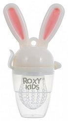 Ниблер Roxy Kids для прикорма Bunny Twist силиконовый Розовый