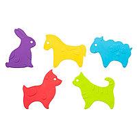 Антискользящие мини-коврики ROXY-KIDS для ванны Animals в ассортименте 5 шт