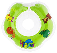 Круг на шею Roxy Kids Flipper для купания малышей 0+ Зеленый