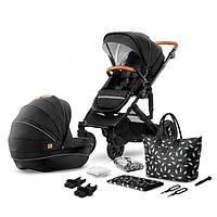 Коляска 2в1 Kinderkraft PRIME Black + сумка для мамы