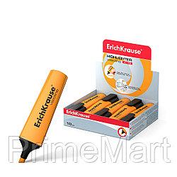 Текстмаркер ErichKrause® Visioline V-12, цвет чернил оранжевый  (упак./10 шт.)