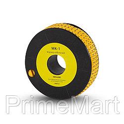 """Маркер кабельный Deluxe МК-1 (2.6-4,2 мм) символ """"4"""" (1000 штук в упаковке)"""