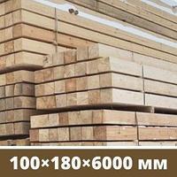 Брус деревянный сосна 100×180×6000 мм