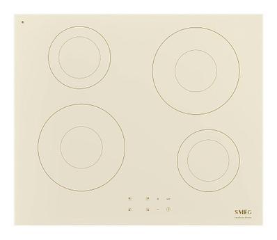 Индукционная варочная панель Smeg SI2641DP, бежевый