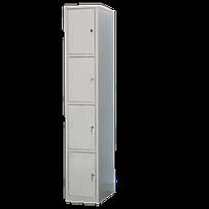 Медстальконструкция Шкаф для одежды и сумок металлический с четырьмя ячейками на заклепках  МСК-2944.300