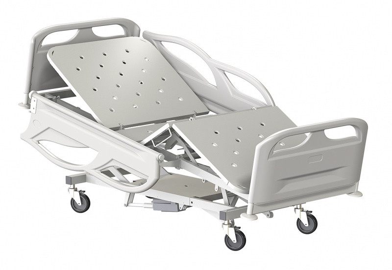 Медстальконструкция Кровать медицинская функциональная трёхсекционная КМФТ140-МСК (код МСК-2140)