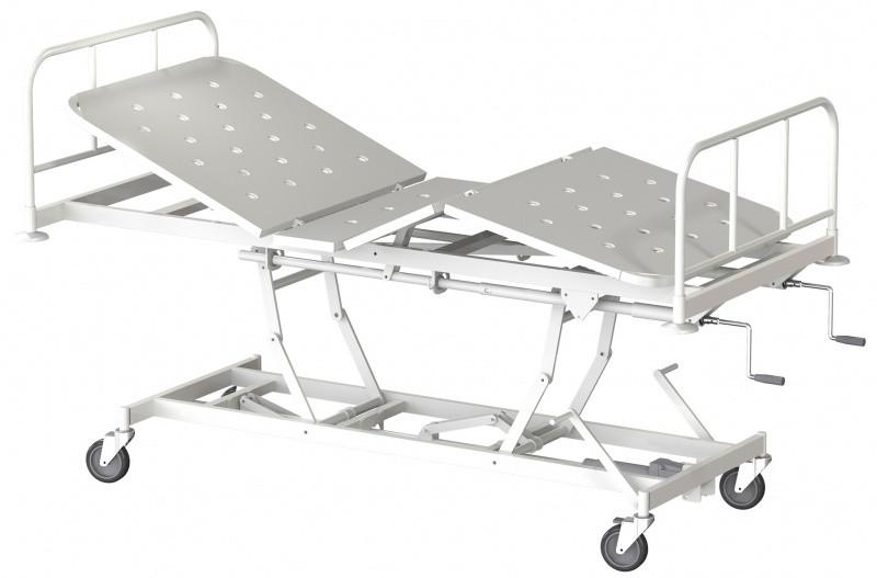 Медстальконструкция Кровать медицинская функциональная трёхсекционная КМФТ144-МСК (код МСК-144)