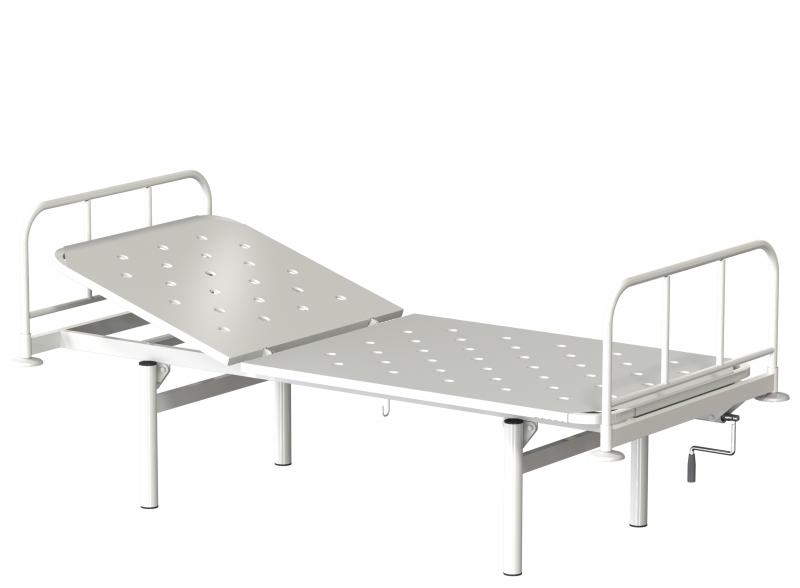 Медстальконструкция Кровать металлическая общебольничная с подголовником КФО-01-МСК (код МСК-1105)
