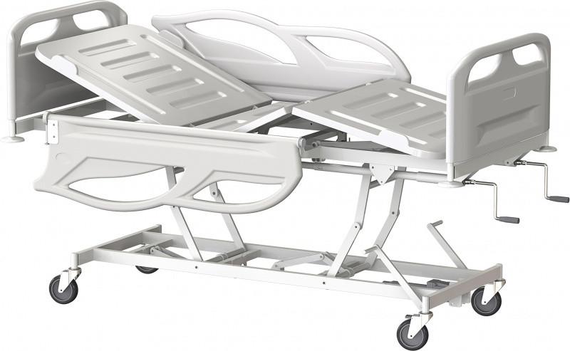 Медстальконструкция Кровать медицинская функциональная трёхсекционная КМФТ144-МСК (код МСК-3144)