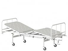 Медстальконструкция Кровать функциональная трехсекционная КФ3-01-МСК на колесах (код МСК-1103)