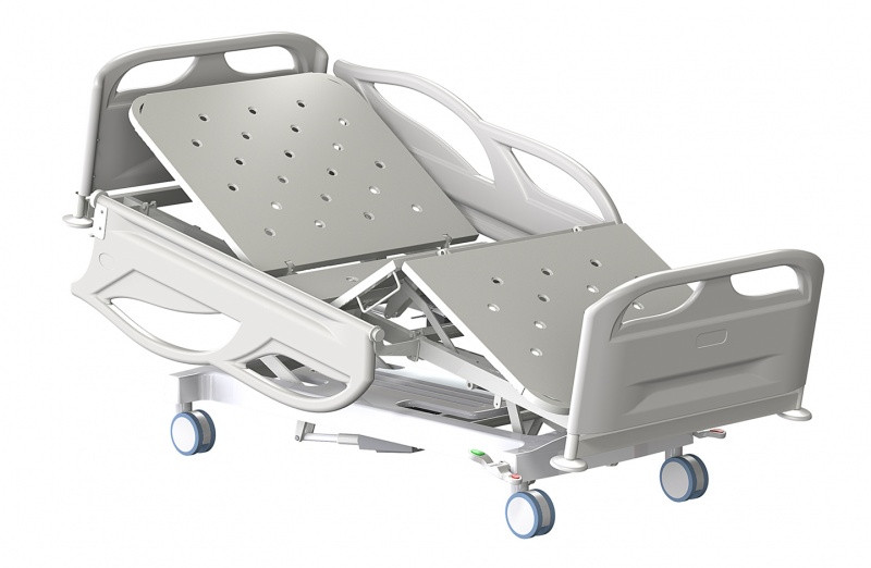 Медстальконструкция Кровать медицинская функциональная трехсекционная КМФТ140-МСК (код МСК-2140Т)