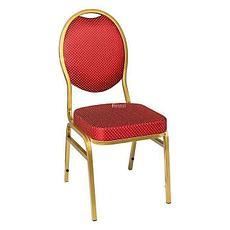 Стул банкетный IFDG DN-018 золото/ткань красная