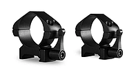 Комплект колец для оптического прицела Precision Steel Ring Mounts ~ 30mm Medium, With Lever