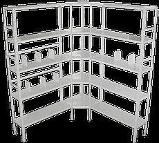 Медстальконструкция Стеллаж металлический 4-х полочный МСК-823.500.4