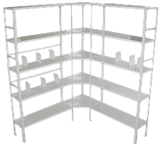 Медстальконструкция Стеллаж архивный металлический 5-ти полочный МСК-824.400.5